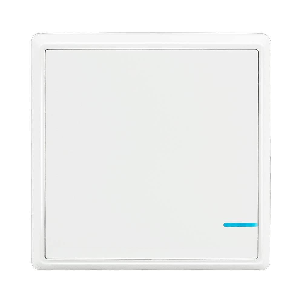 Lichtschalter Set Thinkbee 2 Taste Funkschalter mit Empf/änger Wasserdichter Wireless Lichtschalter Fernbedienung bis zu 600m Kontrollierte Ger/äte bis 1000W Einfache Installation 75℃ -30 ~