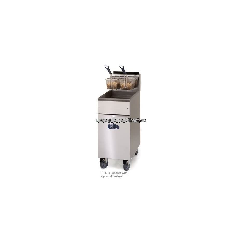 40 LB GAS Deep Fryer w Stainless Frypot Elite by Imperial