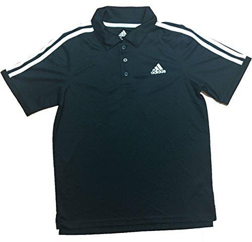 Adidas Boys Golf Polo Shirt Black Large 14/16