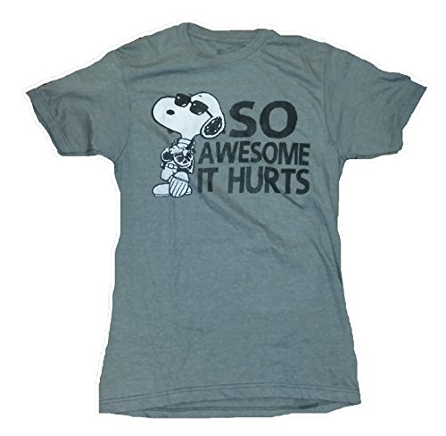 Peanuts Snoopy So Awesome It Hurts Licensed Graphic T-Shirt