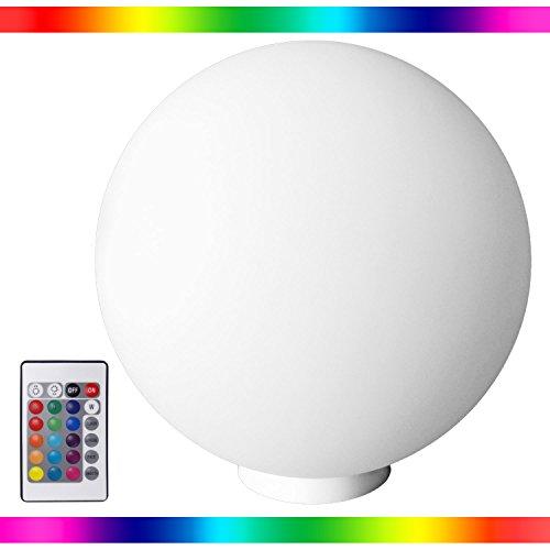 kabellose LED Kugellampe Schwimmleuchte 40cm Ball Leuchtkugel mit Farbwechsel - neues Modell mit Aufhängevorrichtung- 16 Farben, Fernbedienung, - wasserdicht IP68 - für Haus, Garten und Pool