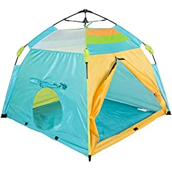 """Pacific Play Tents 20315 Kids One Touch Beach Tent, 48""""x 48""""x 40"""", Blue/Orange/Green"""