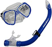 Scuba Choice Comocean Youth Kids Blue Silicone Snorkeling Mask and Snorkel Set Combo
