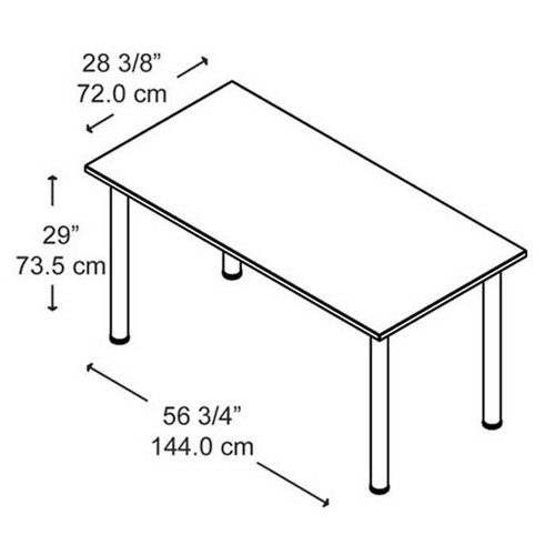 Aspen Tables 57W x 28-1/2D Large Rectangle Table in Hansen Cherry by Bush Business Furniture (Image #1)