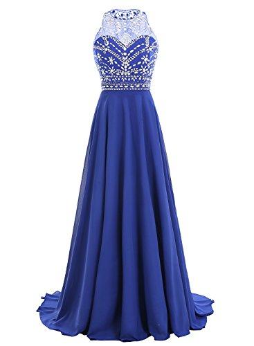 8958882037d Bbonlinedress Women Long Chiffon Beadings Scoop Prom Party Dresses Evening  Gown