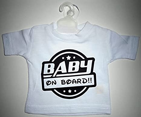 Mini T Shirt Bimbo A Bordo Baby on Board – Percha & Adhesivo ventosa coche