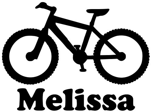 Mountain Bike Vinyl Decal Sticker with Custom Personalized Name 5.5