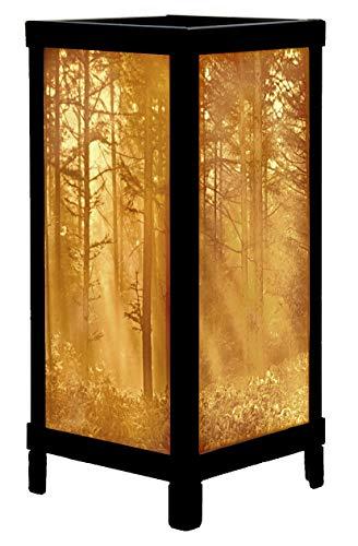 Woodland Sunbeams Porcelain Lithophane Luminaire Accent Lamp