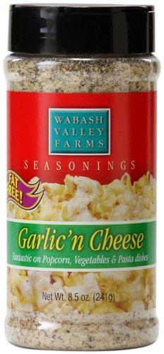 Wabash Valley Farms Popcorn Seasoning, Garlic 'n Cheese, 8.5-Ounce Jars (Pack of 3)