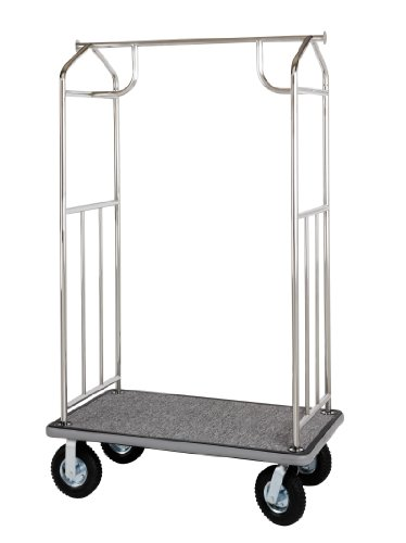 Value Valet Bellman's Cart- Chrome (Wheel Bellman Cart)