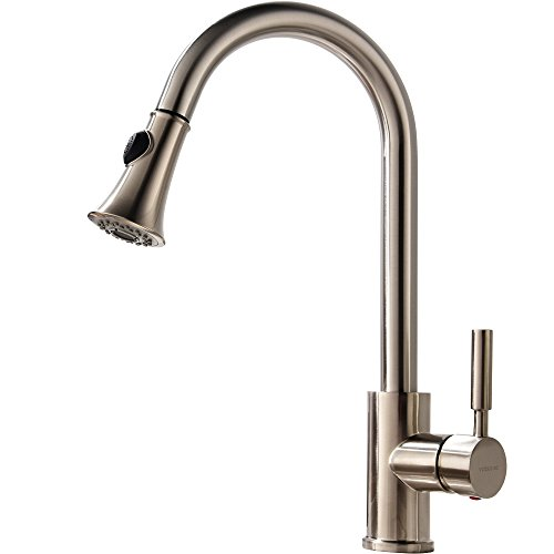 Hotis Comercial Pull Out 360 Degree Swivel Brushed Nickel Pr