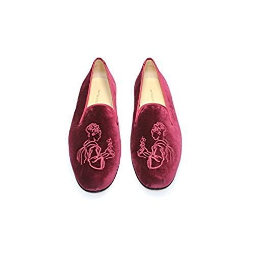 8cf365e1d2ead Smythe & Digby Signature Womens Burgundy Albert Slipper Velvet Loafers best