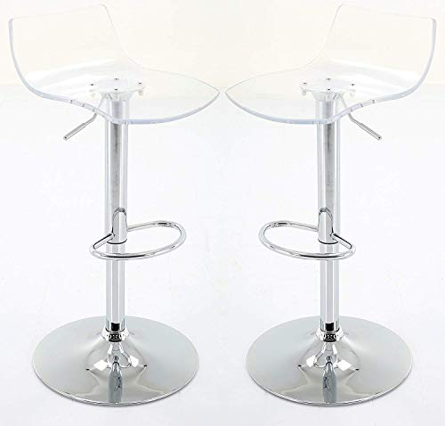 BestOffice Modern Adjustable Swivel Bar Stools Chairs-Sets of 2