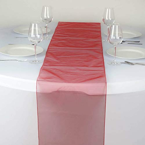 Mikash 5 Pack Sheer Organza Table Runner Wedding Party Decoration 20+ Colors! | Model WDDNGDCRTN - 19763 -