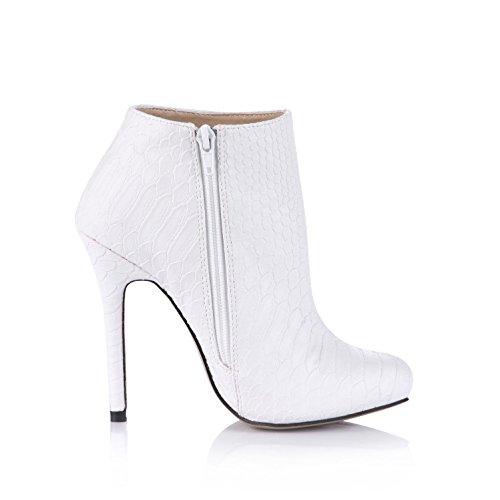 redonda plataformas alto poliuretano goma de para primavera 12 de alta otoño mujer KUKIE de 4U Best tacón Sandalias suela cm zapatos cremallera calidad de puntera de wWvgqZRH