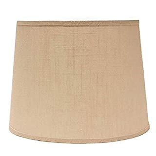 AHS Lighting SD1470-12RF Mix 'N Match Linen Rectangular Lamp Shade with Washer Fitter, 12-Inches, Ivory