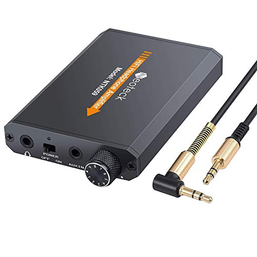 Neoteck Headphone Amplifier Portable 3.5mm Audio Rechargeble HiFi Earphone Headphone Amplifier with Lithium Battery and Aluminum Matte Surface Ideal for MP3 MP4 Phones Digital Players and - Stereo Mp4 Mp3 Earphone