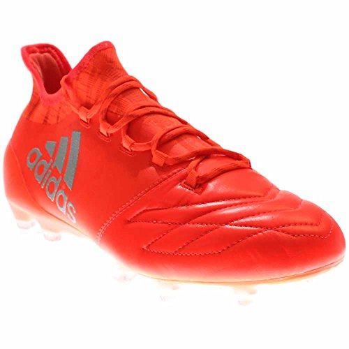 Adidas Mens X 16.1 Pelle Fg Rosso Solare / Argento Metallizzato / Rosso Hi-res