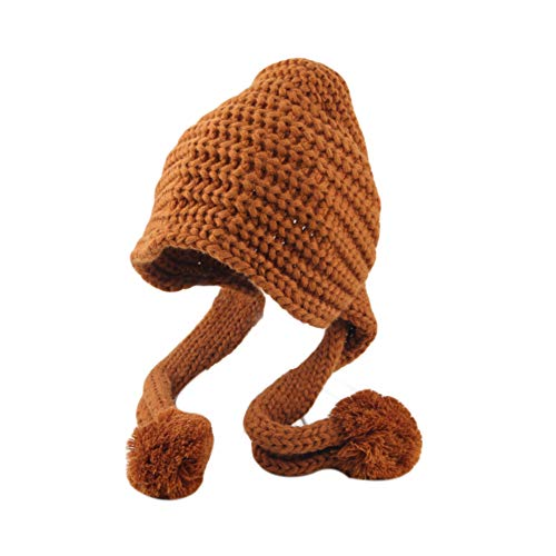 (TRENTON Baby Girls Boys Winter Peruvian Beanie Knit Hat Ski Cap Ear Flaps)