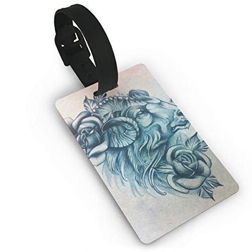 Kla Ju Luggage Tags Goats Flowers Drawing Suitcases Bags Name ID Labels Travel Accessories
