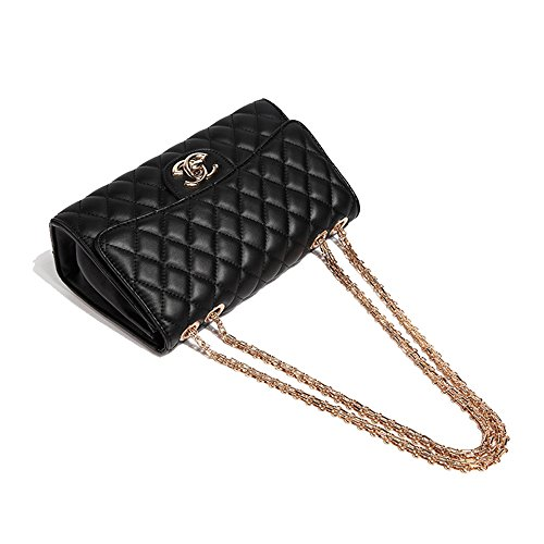 Package Messenger Bag Black Handbags Mini Fashion Chain Bag Shoulder WJNKK Lingge X74xnwqPX5