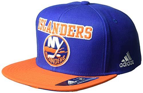 adidas NHL New York Islanders Flat Brim Snapback Hat d6f8d39ef59