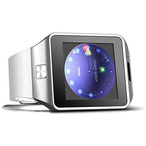 Dz09 Bluetooth Smart Watch with Camera and SIM Slot and Sports Pedometer for HTC LG Sumsung (Sliver)