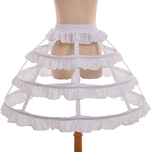 GRACEART Wedding Dress Petticoat Crinoline Underskirt (Cage Petticoat)