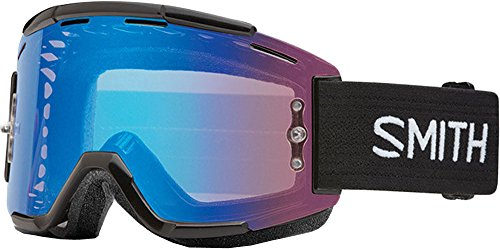 Smith Optics Squad MTB Adult Off-Road Goggles - Black/Chromapop Contrast Rose Flash/One Size - Off Road Helmet Reviews