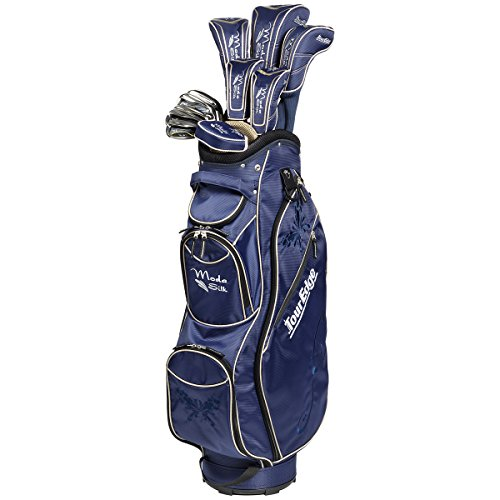 Tour Edge SGSRGL11.B Women's Moda Silk Box Set, Right Hand, Graphite, Full Set, Navy/Khaki ()