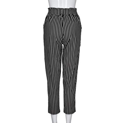 Pantaloni SUMTTER Casuale Vita Alta Banda Harem Cravatta Donne Nero UUHgqwZ