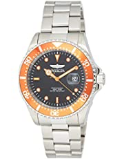 Invicta Men's Pro Diver 43mm Stainless Gold Steel Quartz Casual Watch, Silver/Orange, Gold/Beige, Two Tone/Silver (Model: 22022, 22065, 22061)