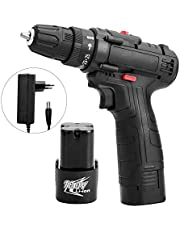 Extaum 18V Multifunctional Electric Impact Cordless Drill High-power Lithium Battery Wireless Rechargeable Hand Drills Home DIY Electric Power Tools