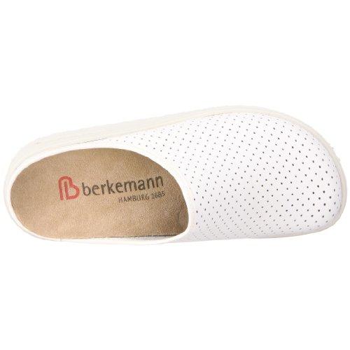 Berkemann Tec-Pro Thordu - Zuecos de cuero unisex Blanco