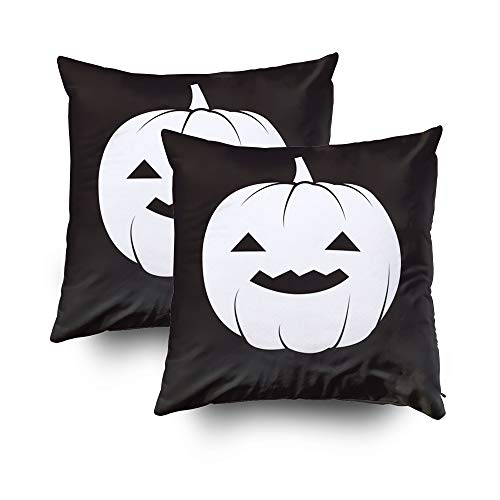 Capsceoll Throw Pillow Covers,Halloween Pumpkin Halloween Pumpkin Wallpaper Halloween Pumpkin Background 16x16 Pack of 2Throw Pillow Covers for Home Bedroom and Sofa Couch Décor]()