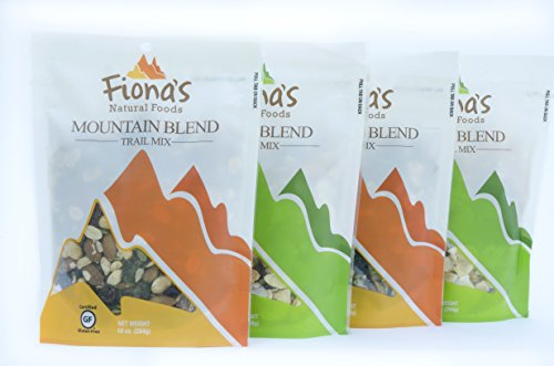 Fiona's Natural Foods Trail Mix 4 Pack Trail Mix, Jungle Blend and Mountain Blend, Gluten Free (Mountain Trail Mix Recipe)