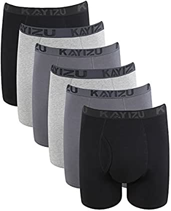 KAYIZU Men's Underwear, Brand Ultimate Soft Cotton Boxer Brief (6-Pack) Small