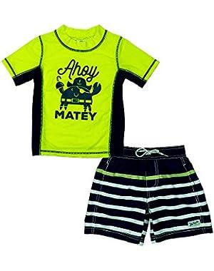 Carter's Baby Boys' Ahoy Matey Rashguard Set
