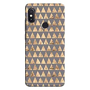 Cover It Up - Brown Grey Triangle Tile Redmi Note 5 Pro Hard Case