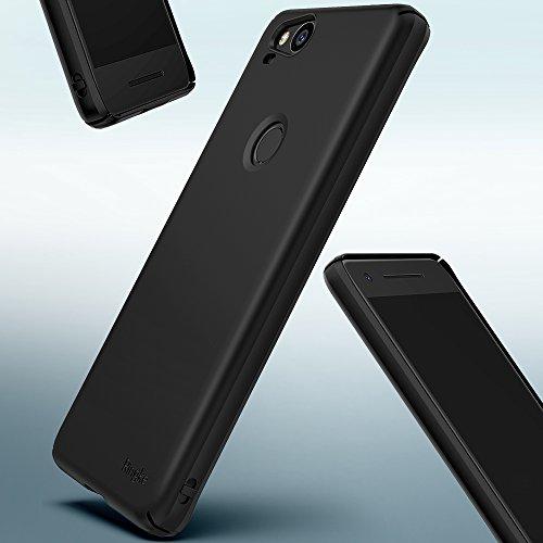 Funda Google Pixel 2 Ringke [SLIM] [3-Pack] Ajuste en el Mango Ultra-Delgada de Fluido Borde Curvado la Piel Funda de la Caja Protectora Lightweigt de Revestimiento Dura de la PC - Assorted Color Black