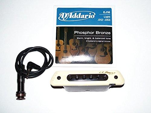 Lr Baggs M80 A Magnetic Soundhole Pickup, For steel string Guitar+ 1 set of J-16 Strings VWWS USA