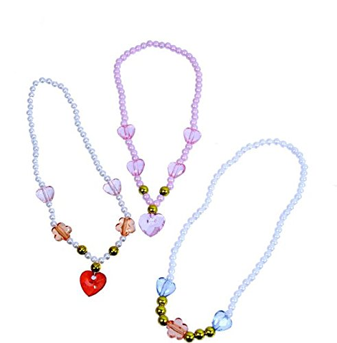 [Dazzling Toys Beautiful Princess Jewel Necklaces Pack of 12] (Costumes Jewelry Prices)