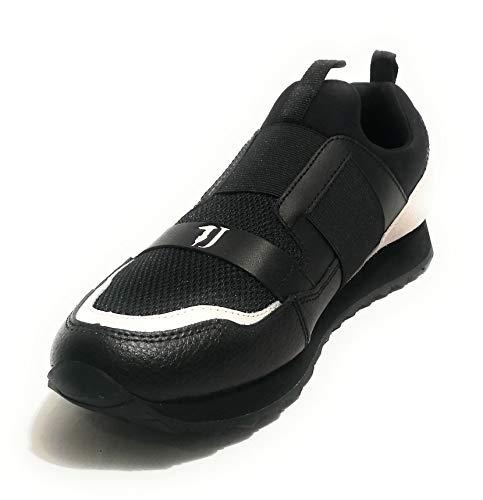 Nero Jeans bianco Nero Running pelle U19tj06 k308 Trussardi Nylon on Sneaker Silp Uomo FqB4n84wd