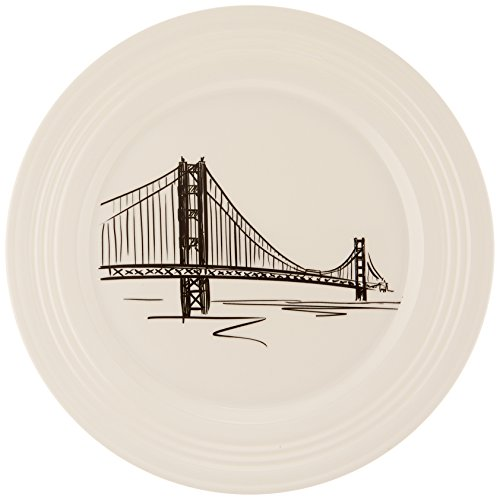 Lenox Tin Can Alley San Francisco Accent Plate, 9-Inch