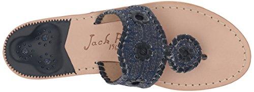 Isla Midnight Midnight Sandal Flat Rogers Jack Women's AgPcO