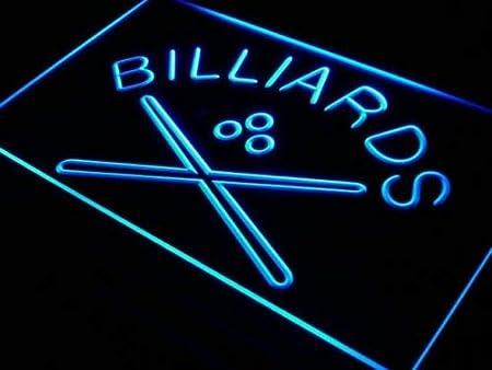 Jintora - Neon Sign - señal de neón - Billiards Pool Cue Room Bar Pub - Billar Pool Cue Room Bar Pub - Fiesta, Discoteca, Club, Bistro, Salón de Fiestas, Ventana: Amazon.es: Hogar