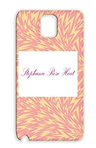 Black Stephanie Rose Heat Script Logo For Sumsang Galaxy Note 3 Love Gay Lesbian Case Cover