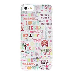 JOEAnimal Pattern Detachable Hard Case for iPhone 5/5S