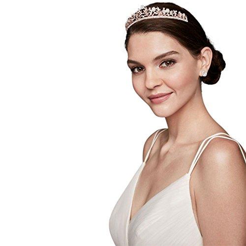 Pearl Garden Crystal Tiara Style T8137, Rose Gold