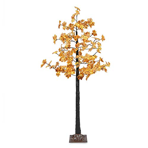 - Artificial LED Maple Tree Light, LightMe 6FT 120 Warm White LED Lighted Maple Tree Lamp for Office, Home Patio, Garden, Festival, Party, Wedding, Christmas, Halloween Decor Indoor Outdoor (Bee Yellow)